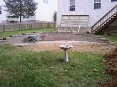 Retaining Wall Leveling Yard Above Ground Pool In Pools Walls