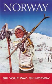 Vintage ski poster - Norway - 1964 - Ski your way  Designer:Fargefoto: Normann/Øverås,