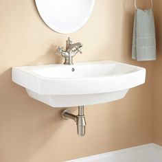 "Zurn Bathroom Sinks zurn wall mounted bathroom sink faucet mount: 4"" centers"