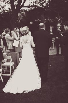 Our Wedding Day! Walking down the aisle with my Daddy. <3