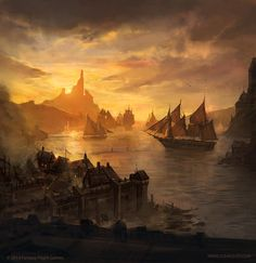 "gameofthrones-fanart: ""Lannisport: Beautiful Digital Painting by jcbarquet """