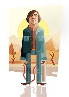 Anton Chigurh - No Country for Old Men - Ricardo Polo Pulp Fiction, Love Movie, I Movie, Breaking Bad, Arte Hip Hop, Film Music Books, Portrait Illustration, Cultura Pop, Old Men