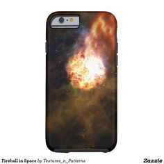 Fireball in Space Tough iPhone 6 Case  #fireball #space #science #fiction #cosmos #stars #cosmic #astronomy #sky #dark #universe #starry #star #clusters #galaxy #night #rays #explosion #pattern #abstract #iphonecase