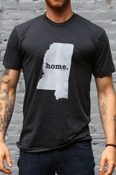 Mississippi Home T State Shirt   Bourbon & Boots