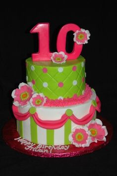 Girly 10th birthday By mom262 on CakeCentral.com