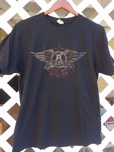 AEROSMITH DISTRESSED LOGO 2006 T Shirt Men's Size M Short Sleeve Brown #Ten…