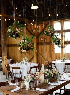 2019 Top 14 Must See Rustic Wedding Ideas for a Memorable Big Day---rustic wedding decoration with hanging greenery, barn weddings, rustic country wedding ideas, wedding reception decorations, Rustic Wedding Reception, Farm Wedding, Budget Wedding, Wedding Ideas, Barn Wedding Flowers, Hanging Flowers Wedding, Trendy Wedding, Elegant Wedding, Wedding Ceremony