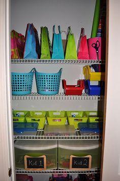kids craft closet