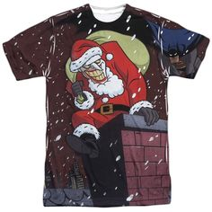 Batman The Animated Series Joker Claus Adult All Over Print 100% Poly T-Shirt