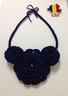 Crochet Necklace, Jewelry, Fashion, Jewlery, Moda, Crochet Collar, Jewels, La Mode, Jewerly