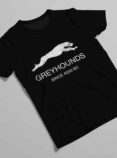 """Greyhounds since 4000 BC"" Greyhounds are one of the oldest breeds of dog. Images of greyhounds have been found in tombs of Egyptian royalty. Show"