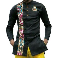 African print mens dashiki shirts custom african clothes fashion shirt men long sleeve turndown collar shirt of africa clothing African Shirts For Men, African Dresses Men, African Attire For Men, African Clothing For Men, Latest African Fashion Dresses, African Print Fashion, Africa Fashion, African Wedding Attire, African Wear
