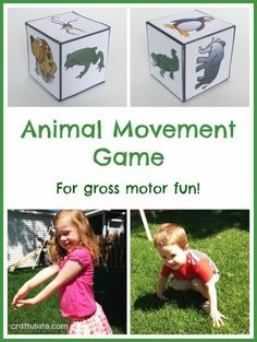 Animal Movement Game for kids (with free printable)
