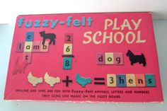 Fuzzy felt, vintage 1970s fuzzy felt, Play school fuzzy felt, vintage childrens toy, retro toy. by thevintagemagpie01 on Etsy