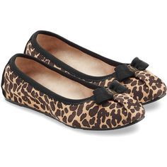 Salvatore Ferragamo Suede Leopard Print Ballet Flats ($225) ❤ liked on Polyvore featuring shoes, flats, scarpe, ballet flats, sapatos, animal prints, ballet pumps, leopard print flats, bow ballet flats and flat shoes