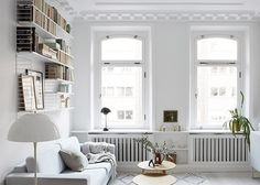 Scandinavian white living room with books with natural and black accents. Stylish wire bookshelf with art. Are you looking for unique and beautiful art photo prints to create your gallery wall... Visit bx3foto.etsy.com