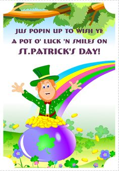 a pot of luck free st patricks day card greetings island