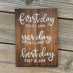 The perfect sign for your rustic wedding! This personalized sign can be displayed in your home for many years once the wedding is over! A keepsake like this is a must have!!
