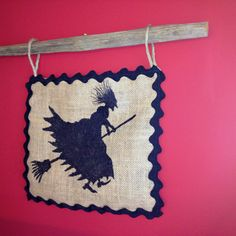 Burlap, with tobacco stick ... Wall hanger.