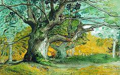 Samuel Palmer (1782-1852) - Oak -trees- Lullingstonr park-