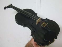 A carbon fibre violin i made from scratch - now, THAT'S just awesome!
