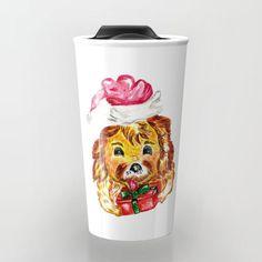 Happy Christmas dog Travel Mug