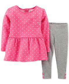 Carter's Baby Girls' 2-Piece Babydoll Top & Leggings