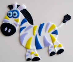 Rainbow Zebra. $85.00, via Etsy.
