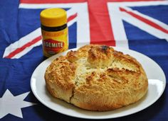Damper and Vegemite. Australian Slang, Australian English, Aussie Food, Australia Day, Bagel, I Foods, Banana, Dishes, Desserts