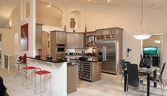 Novum Custom Homes designed this amazing modern kitchen.