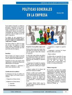 """Artículo """"Politicas Generales en la Empresa"""" conoce los beneficios de aplicarlas en tu negocio. #Pyme #ESR #Revista400 Revista 400 agosto 2015"""