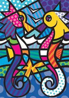 Segredos do cavalo-marinho | Mente e Cérebro | Duetto Editorial Pintura Graffiti, Graffiti Painting, Arte Pop, Britto Disney, Paper Architecture, Cubism Art, Art Lessons Elementary, Painting Lessons, Preschool Art