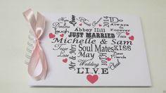 Personalised Wedding Guest Book Typography Album Engagement Photo Album | eBay
