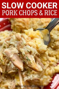Slow cooker pork chops and rice with cheese is a great dinner, is budget-friendly, and is one of the easiest meals to make. The recipe is a great way to jazz up pork chops and create a filling, hearty, and nutritious meal for the family. Crockpot Dishes, Pork Dishes, Crockpot Recipes For Porkchops, Slow Cookee Recipes, Crockpot Boneless Pork Chops, Slow Cooker Rice Recipes, Crock Pot Pork Chops, Vegan Recipes, Crock Pot Slow Cooker