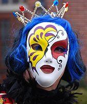 Máscara utilizada em  baile de máscaras