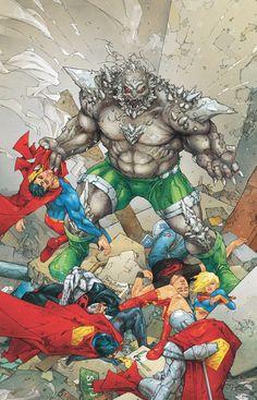"#Superman #Fan #Art. (Action Comics. ""Reign of Doomsday"" (Part Seven) ""Reign of the Doomsdays"" (Part 1) Vol.1#901 Cover) By: Kenneth Rocafort. ÅWESOMENESS!!!™ ÅÅÅ+"