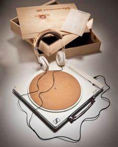 Sennheiser Eco Vinyl Turntables and Headphones by Matthew Lim