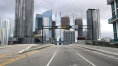 Driving Downtown - Miami Florida USA