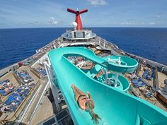 One thing that didn't change on the Carnival Freedom during its recent overhaul was its 207-foot-long water slide.