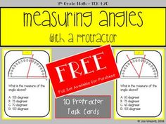 Measuring Angles with a Protractor FREE - 4th Grade Math - Texas Math - Cool Beans Ed