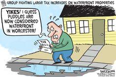 Landgren cartoon: Waterfront property