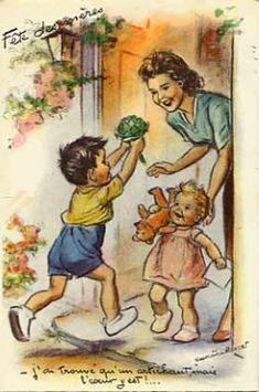carte vintage fête des mères  { Mary Posy aime ! }