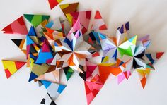 I love the beautiful pieces of colorful origami at Origami Girl UK's site at www.origamigirl.co.uk