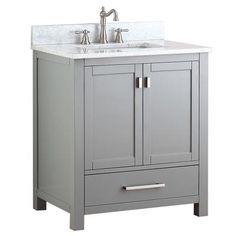 Avanity - Modero 30 In. Vanity Cabinet Only in Chilled Gray - MODERO-V30-CG - Home Depot Canada