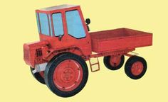 T-16M Tractor Free Vehicle Paper Model Download - http://www.papercraftsquare.com/t-16m-tractor-free-vehicle-paper-model-download.html#117, #T16, #T16M, #Tractor, #VehiclePaperModel