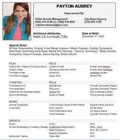Image Result For Beginning Child Actor Resume Template Mysavinglist Acting Sample