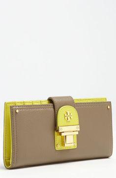 Tori Burch wallet that screams spring http://www.stylewarez.com