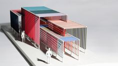 Inspired by Josef Albers' 1963 Interaction of Color as well as his Homage to t.Inspired by Josef Albers' 1963 Interaction of Color as well as his Homage to the Square series, Overlay uses space and movement to reveal how colors are mixed t Conceptual Model Architecture, Concept Architecture, Facade Architecture, Color In Architecture, Movement Architecture, Drawing Architecture, Gym Design, Design Model, Design Room