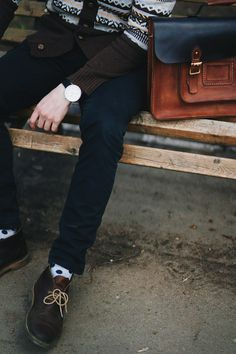 #haleklo #leather #bag #briefcase #satchel #men #gift #inspiration #black #style #handmade #handstitched #leathercraft #craft #casual #style #suspenders #english #look #denim #hat #fashion