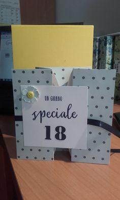 Un compleanno importante! ho utilizzato una struttura porta soldi ma per decorare di certo mi sono affidata ai timbri di www.lacoppiacreativa.com